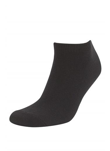 DeFacto 7'li Patik Çorap Siyah